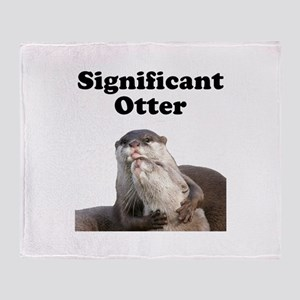 Significant Otter Throw Blanket