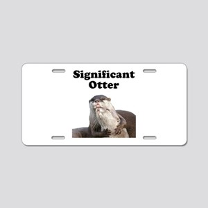 Significant Otter Aluminum License Plate