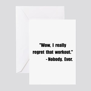 Workout Quote Greeting Cards (Pk of 20)