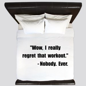 Workout Quote King Duvet