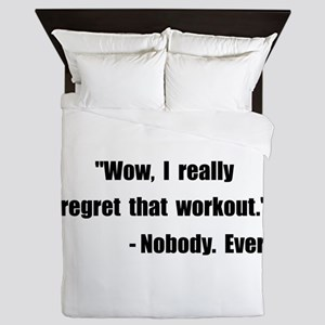 Workout Quote Queen Duvet