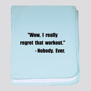 Workout Quote baby blanket