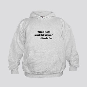 Workout Quote Kids Hoodie