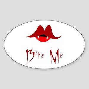 Bite Me Vamp Oval Sticker