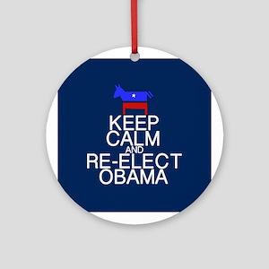 Keep Calm Obama Ornament (Round)