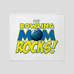 This Bowling Mom Rocks Throw Blanket