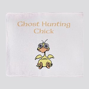 Ghost Hunting Chick Throw Blanket