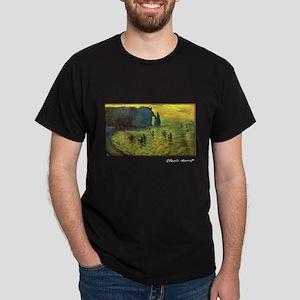 Monet Painting, Cliffs at Etretat, Dark T-Shirt