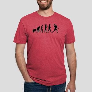 Evolution of Football Mens Tri-blend T-Shirt