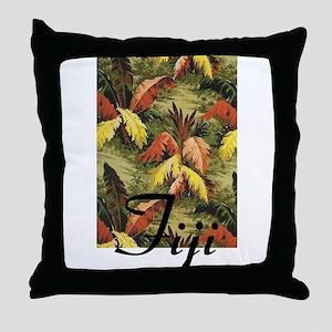 Fiji Jungle Throw Pillow