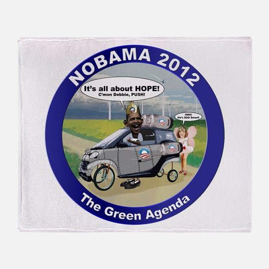 Green Agenda Throw Blanket