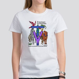 Vet Techs Surrounded By Friends Women's T-Shirt