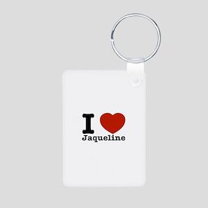 I love Jaqueline Aluminum Photo Keychain