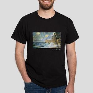 Effect of Waves at Etretat, Monet, Dark T-Shirt
