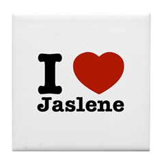 I love Jaslene Tile Coaster