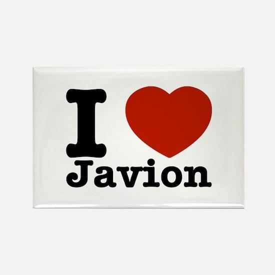 I love Javion Rectangle Magnet