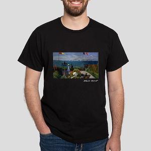 Garden at Sainte-Adresse, Monet, Dark T-Shirt