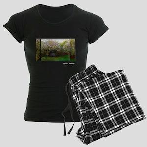 Monet Painting, Lilacs 1872, Women's Dark Pajamas
