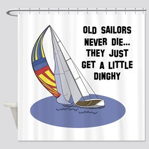 Old Sailors Never Die Shower Curtain