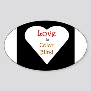 Interracial Love & Relationship Oval Sticker