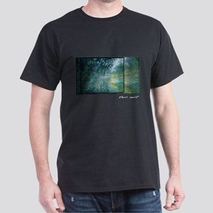 Morning on the Seine, Monet, Dark T-Shirt