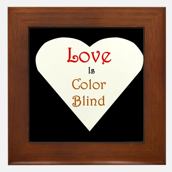 Interracial Love & Relationship Framed Tile