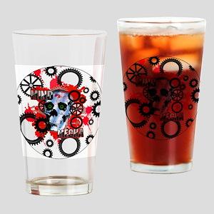 Mind Mecha Steampunk Drinking Glass