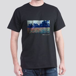 Monet Painting, Poppies at Giverny, Dark T-Shirt