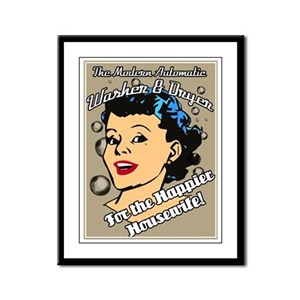The Happier Housewife Framed Panel Print