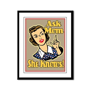 Ask Mom Framed Panel Print
