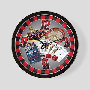 Hot Vegas Nite Wall Clock