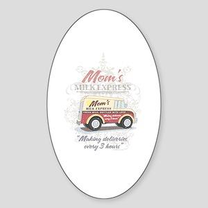 MM Mom's Milk Express Oval Sticker