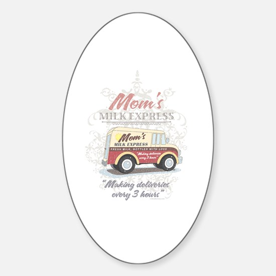 MM Mom's Milk Express Oval Decal