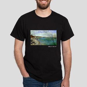 Regatta at Sainte-Adresse, Monet, Dark T-Shirt