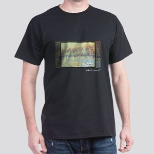 Monet Painting, Scaters in Giverny, Dark T-Shirt