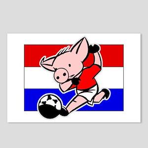 Croatia Soccer Pigs Postcards (Package of 8)