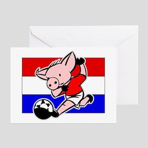 Croatia Soccer Pigs Greeting Cards (Pk of 10)