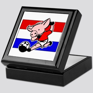 Croatia Soccer Pigs Keepsake Box
