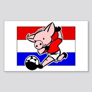 Croatia Soccer Pigs Rectangle Sticker