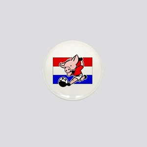 Croatia Soccer Pigs Mini Button