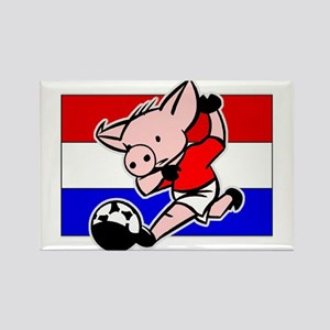 Croatia Soccer Pigs Rectangle Magnet