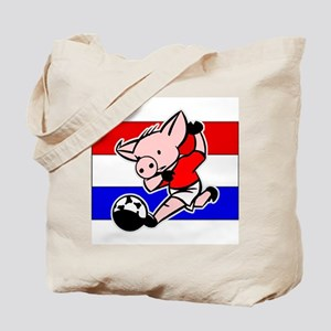 Croatia Soccer Pigs Tote Bag