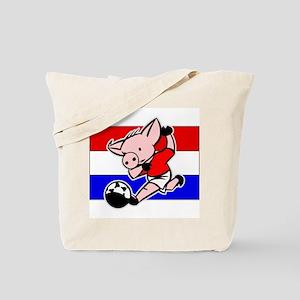 Croatia Soccer Pigs Tote Bag