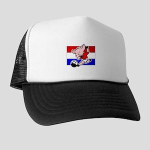 Croatia Soccer Pigs Trucker Hat