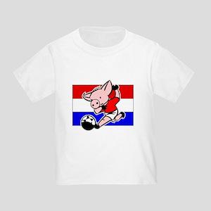 Croatia Soccer Pigs Toddler T-Shirt