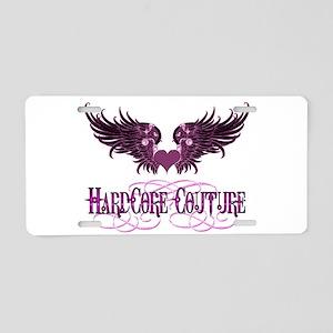 Angel Wings Pink Black by Har Aluminum License Pla