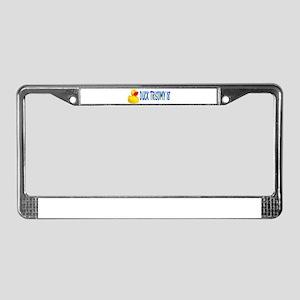DUCKING TRISOMY 18 License Plate Frame