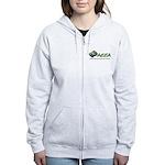 Aeea Women's Cut Zippered Sweatshirt