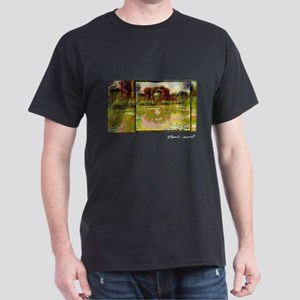 Rose Arches at Giverny Monet, Dark T-Shirt
