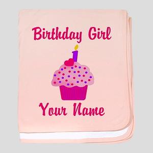 1st Birthday Cupcake baby blanket